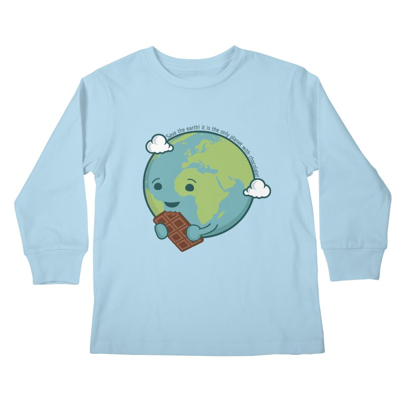 Save The Earth Kids Longsleeve T-Shirt by slamhm's Artist Shop
