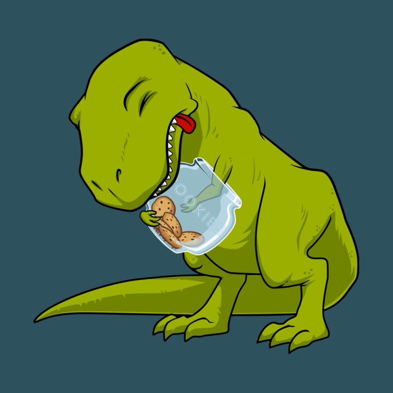 T-Rex and Cookies Jar None  by slamhm's Artist Shop