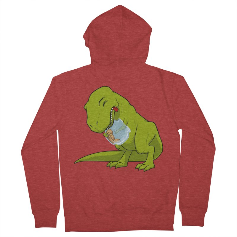 T-Rex and Cookies Jar Men's French Terry Zip-Up Hoody by slamhm's Artist Shop
