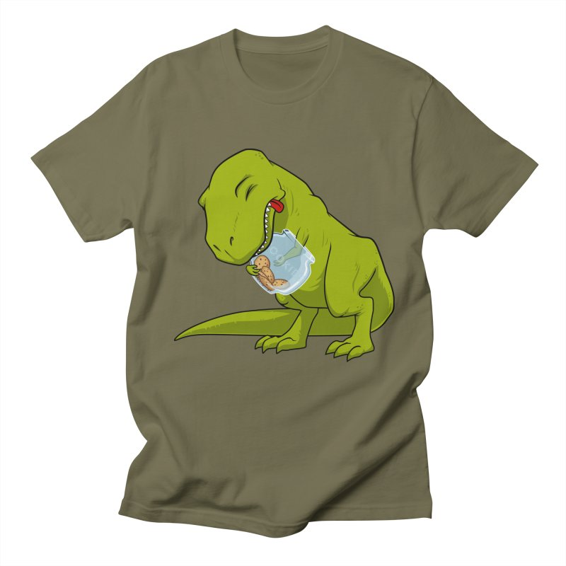 T-Rex and Cookies Jar Men's T-Shirt by slamhm's Artist Shop