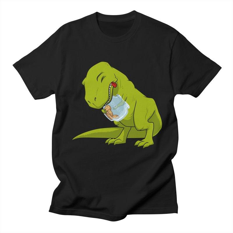 T-Rex and Cookies Jar Men's Regular T-Shirt by slamhm's Artist Shop