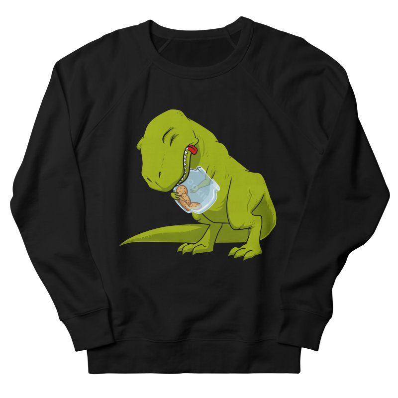 T-Rex and Cookies Jar Men's French Terry Sweatshirt by slamhm's Artist Shop