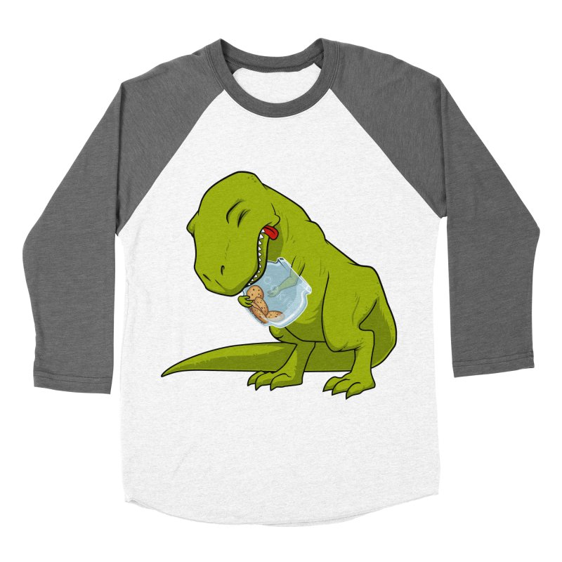 T-Rex and Cookies Jar Men's Baseball Triblend Longsleeve T-Shirt by slamhm's Artist Shop
