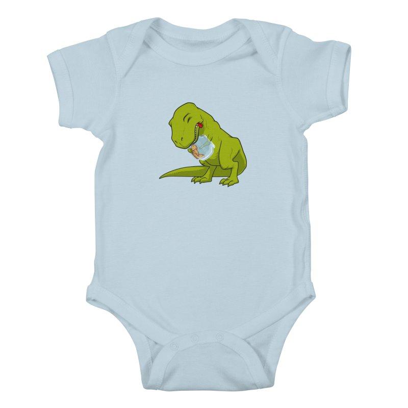 T-Rex and Cookies Jar Kids Baby Bodysuit by slamhm's Artist Shop