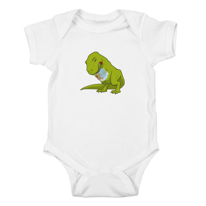T-Rex and Cookies Jar Kids Baby Bodysuit by slamhm's Artist Shop