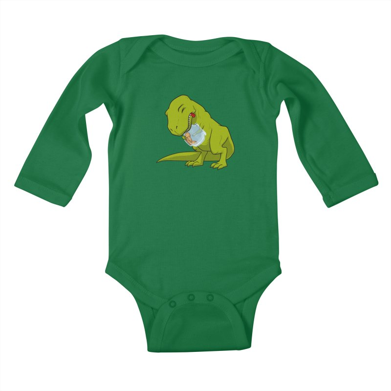 T-Rex and Cookies Jar Kids Baby Longsleeve Bodysuit by slamhm's Artist Shop