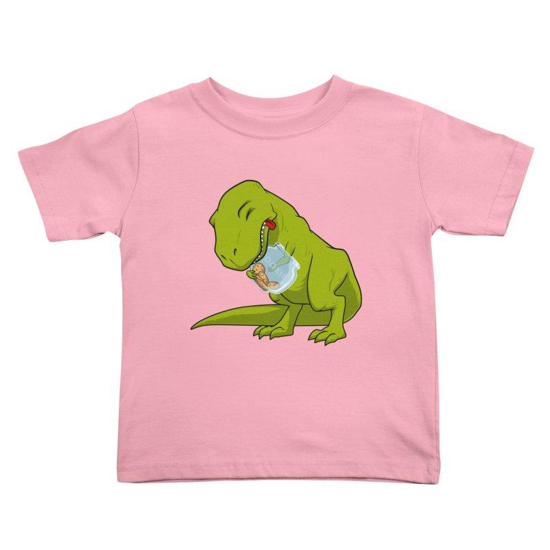 T-Rex and Cookies Jar Kids Toddler T-Shirt by slamhm's Artist Shop