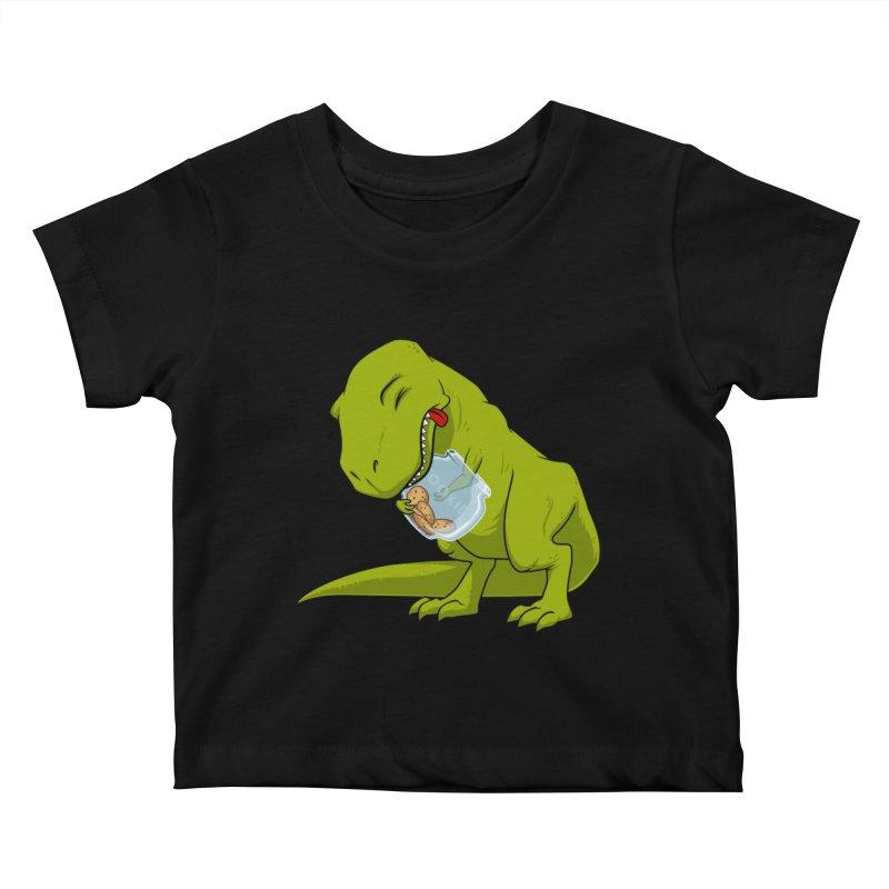 T-Rex and Cookies Jar Kids Baby T-Shirt by slamhm's Artist Shop