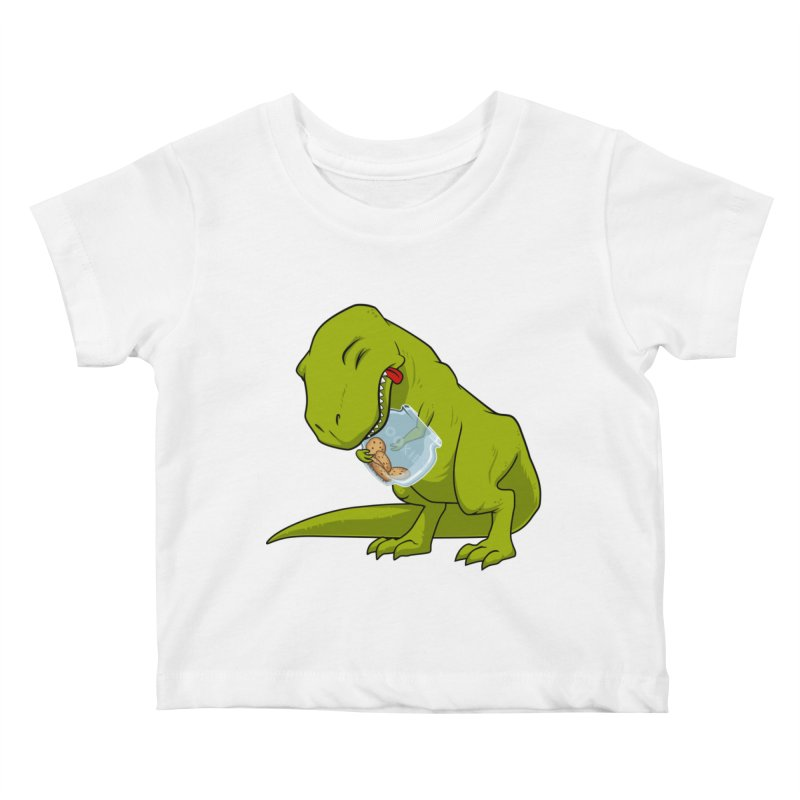 T-Rex and Cookies Jar Kids Baby T-Shirt by slamhm's Artist Shop