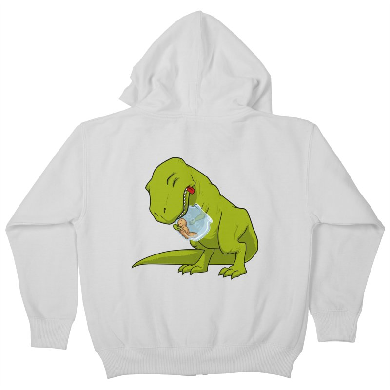 T-Rex and Cookies Jar Kids Zip-Up Hoody by slamhm's Artist Shop
