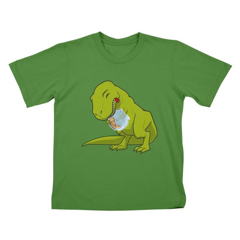 T-Rex and Cookies Jar Kids T-shirt by slamhm's Artist Shop