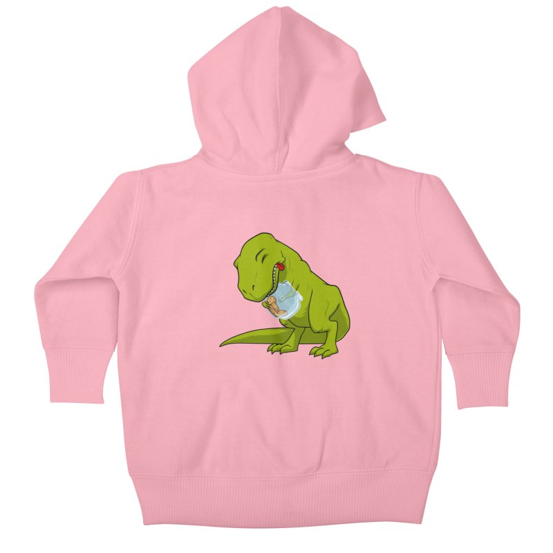 T-Rex and Cookies Jar Kids Baby Zip-Up Hoody by slamhm's Artist Shop