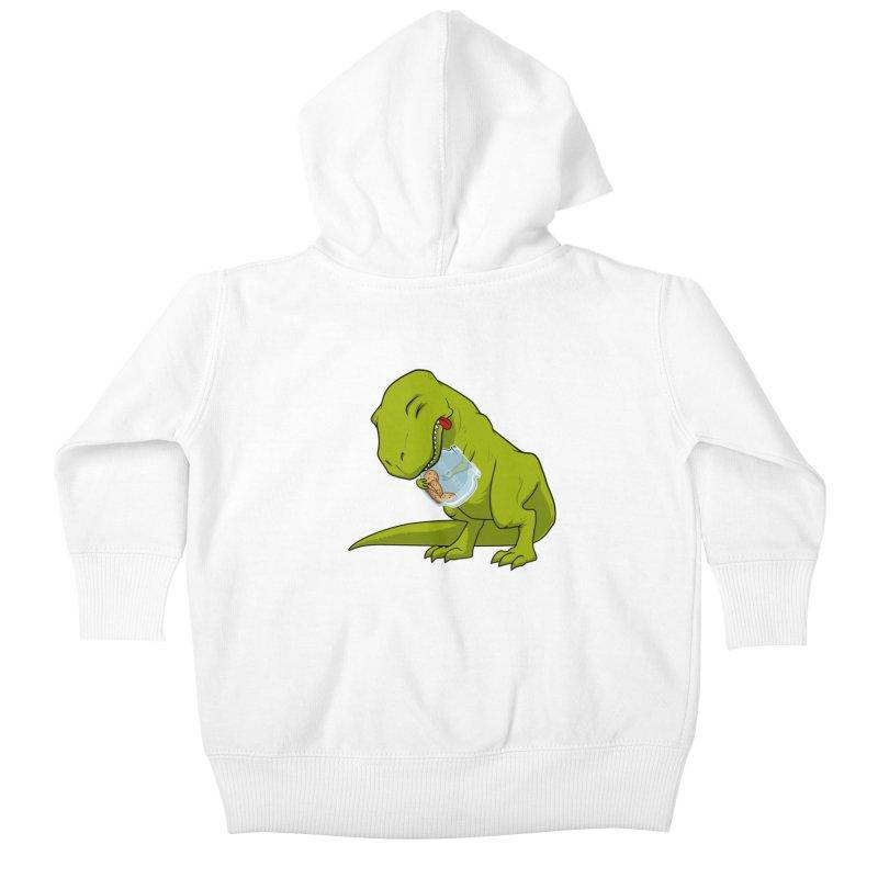 T-Rex and Cookies Jar Kids Baby Zip-Up Hoody by slamhm's Artist Shop