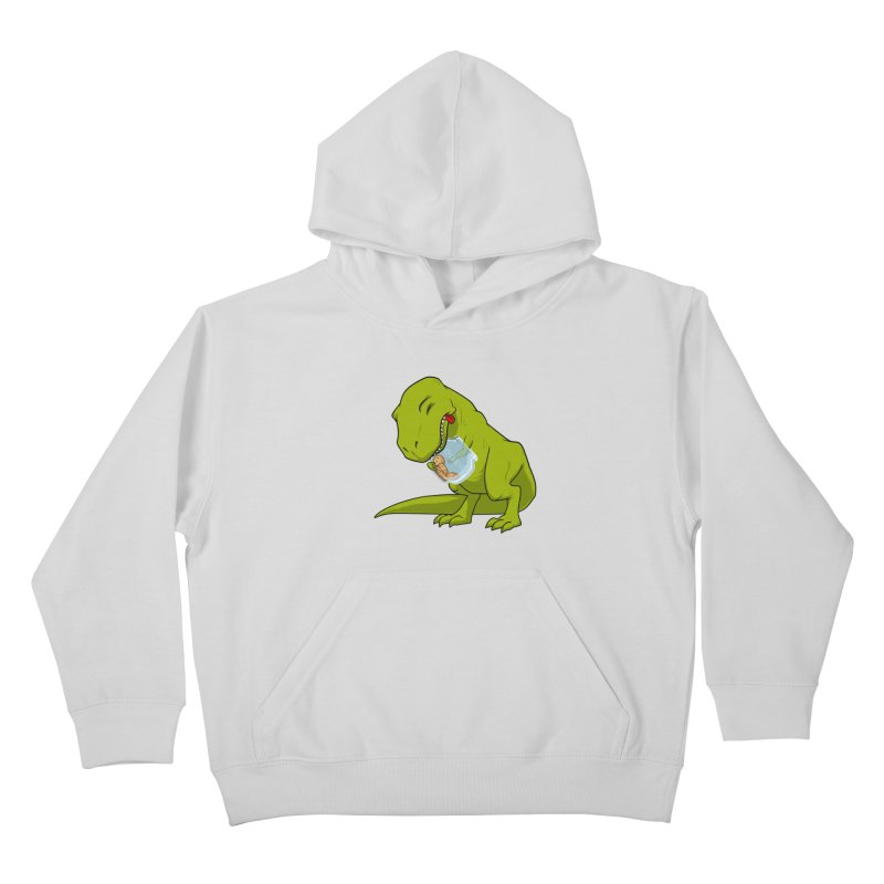T-Rex and Cookies Jar Kids Pullover Hoody by slamhm's Artist Shop