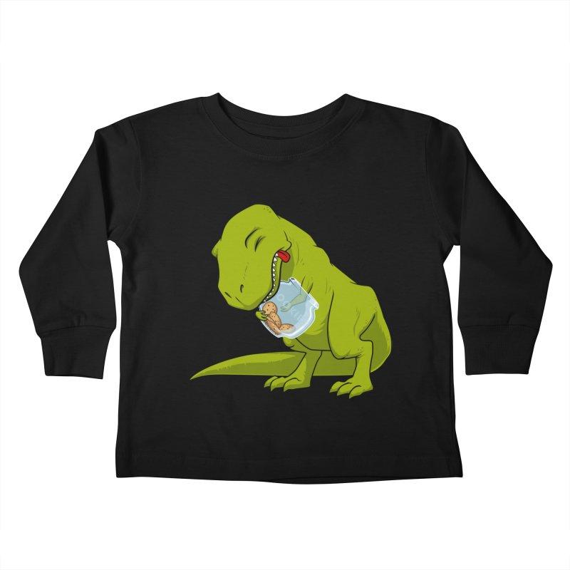 T-Rex and Cookies Jar Kids Toddler Longsleeve T-Shirt by slamhm's Artist Shop