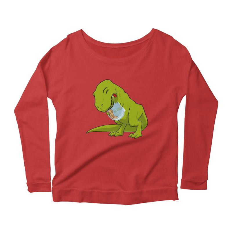 T-Rex and Cookies Jar Women's Longsleeve Scoopneck  by slamhm's Artist Shop