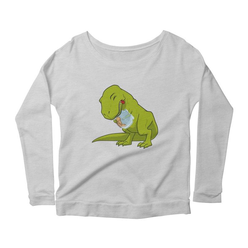 T-Rex and Cookies Jar Women's Scoop Neck Longsleeve T-Shirt by slamhm's Artist Shop