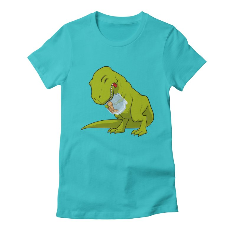 T-Rex and Cookies Jar Women's Fitted T-Shirt by slamhm's Artist Shop