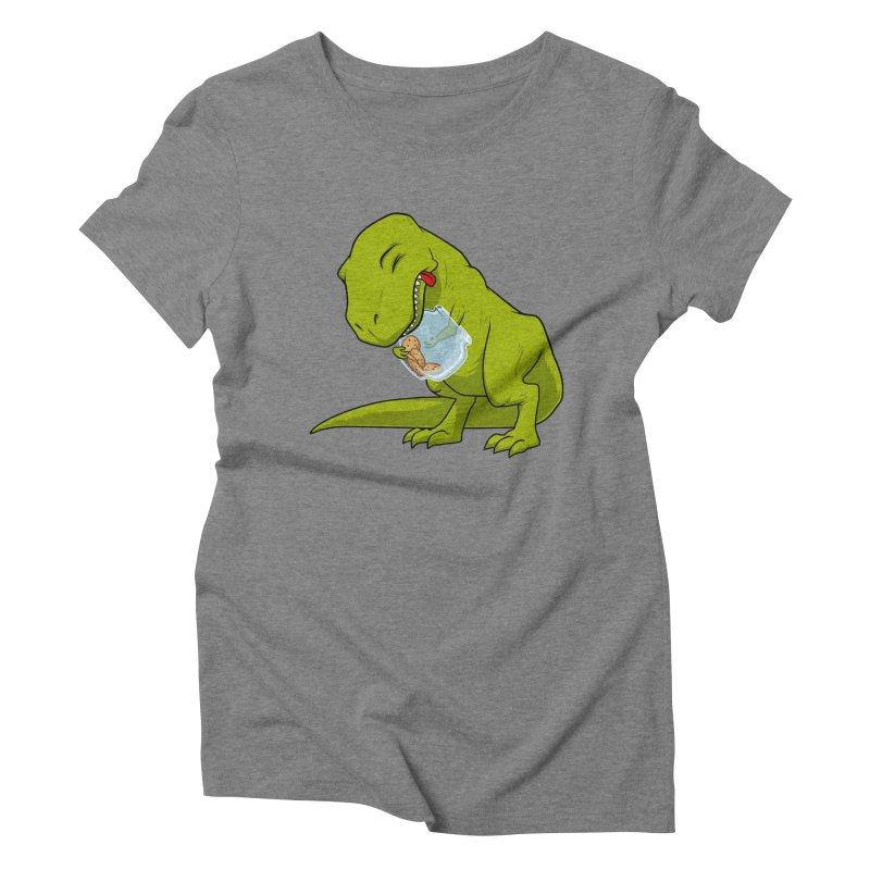 T-Rex and Cookies Jar Women's Triblend T-Shirt by slamhm's Artist Shop