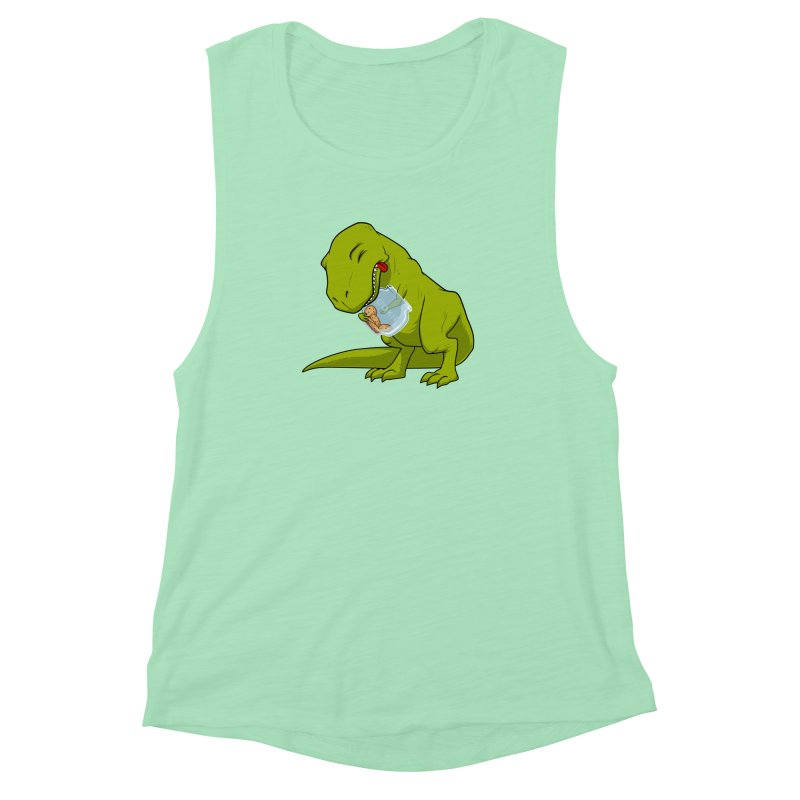 T-Rex and Cookies Jar Women's Muscle Tank by slamhm's Artist Shop