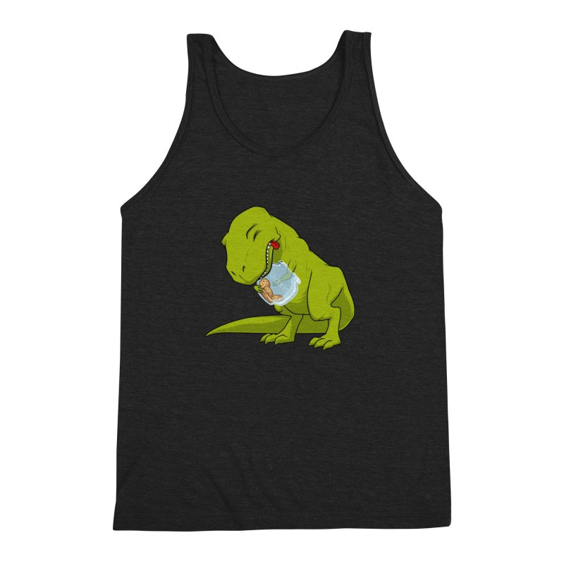 T-Rex and Cookies Jar Men's Triblend Tank by slamhm's Artist Shop
