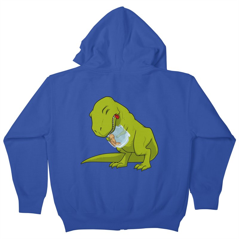 T-Rex and Cookies Jar Kids Zip-Up Hoody by slamhm's Artist Shop