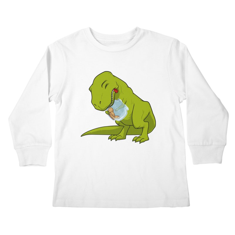 T-Rex and Cookies Jar Kids Longsleeve T-Shirt by slamhm's Artist Shop