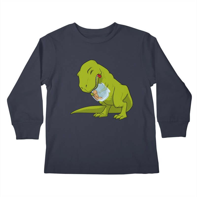T-Rex and Cookies Jar Kids Longsleeve T-Shirt by slamhm's Artist Shop