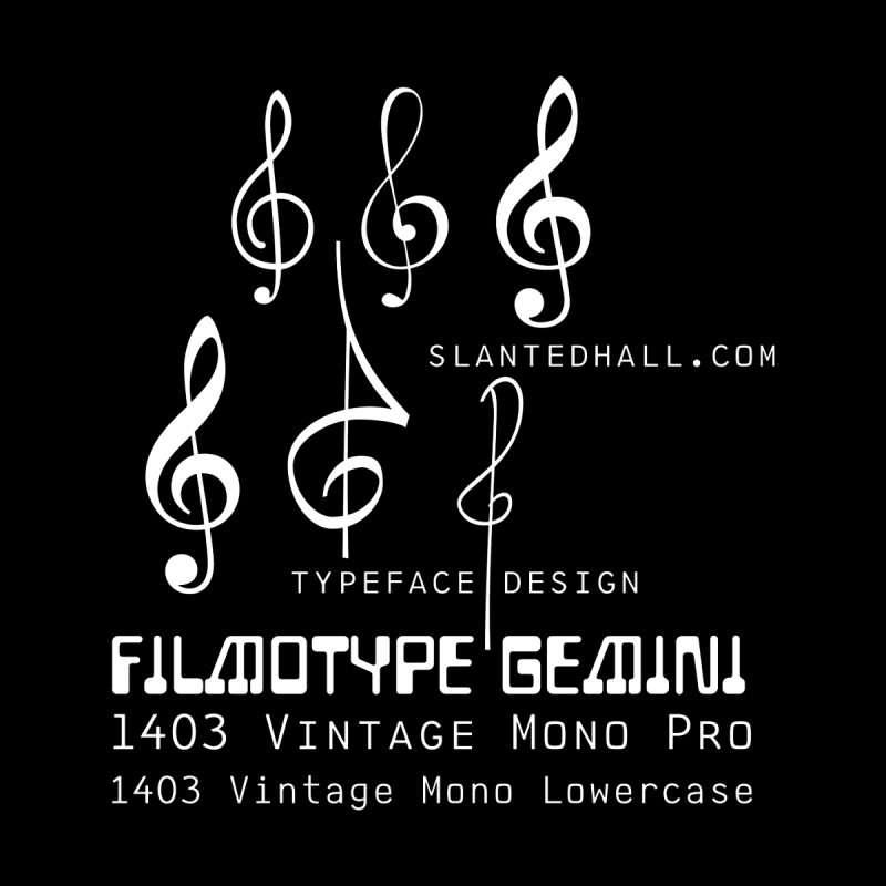 Treble Clef+1403+Gemini Zip-up Hoodie Men's Zip-Up Hoody by Slanted Hall Typefaces and Music Notation Fonts
