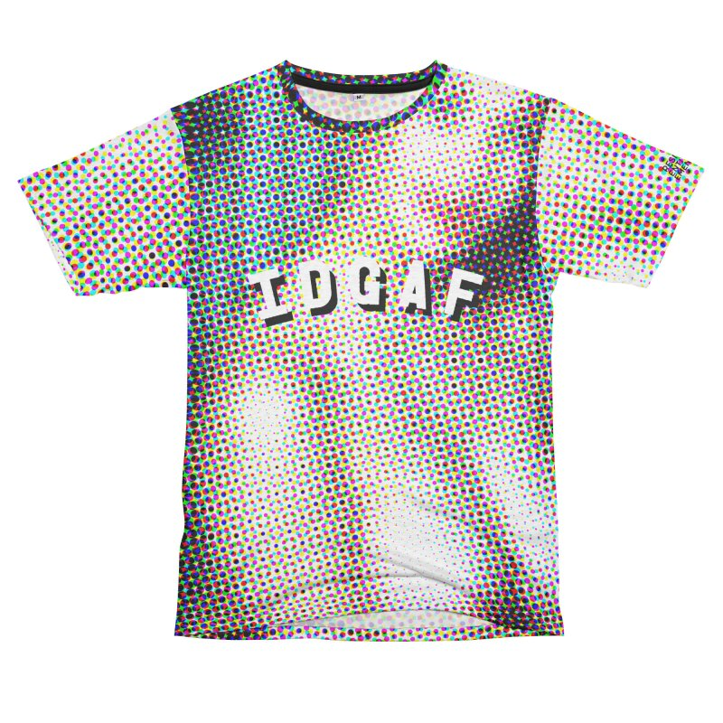 IDGAF Men's French Terry T-Shirt Cut & Sew by Slap Happy Ultd Emporium