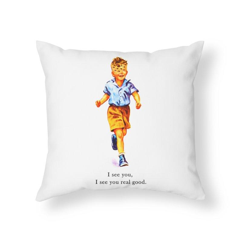 Om-nip-o'dick Home Throw Pillow by shuSHOP