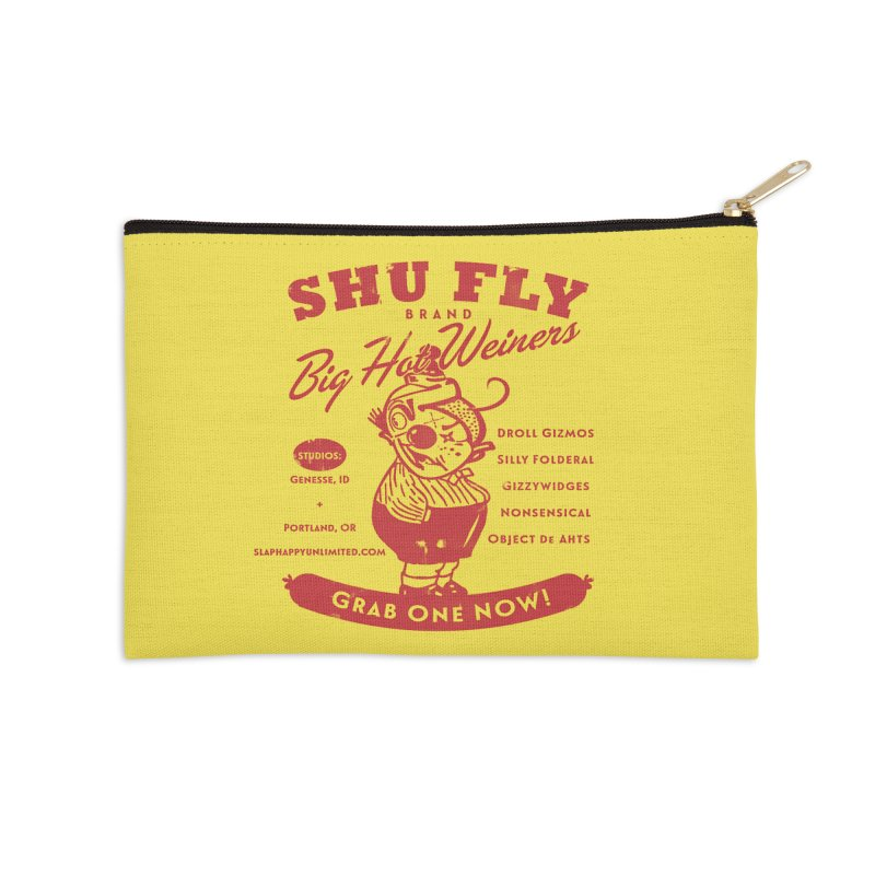 SHUFLY Big Hots Accessories Zip Pouch by Slap Happy Ultd Emporium
