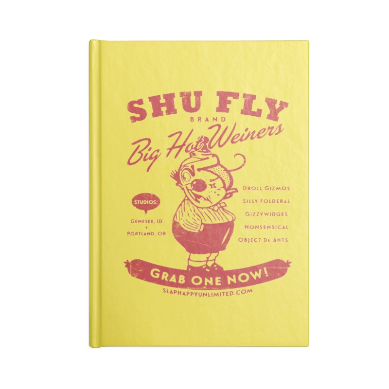 SHUFLY Big Hots Accessories Lined Journal Notebook by Slap Happy Ultd Emporium