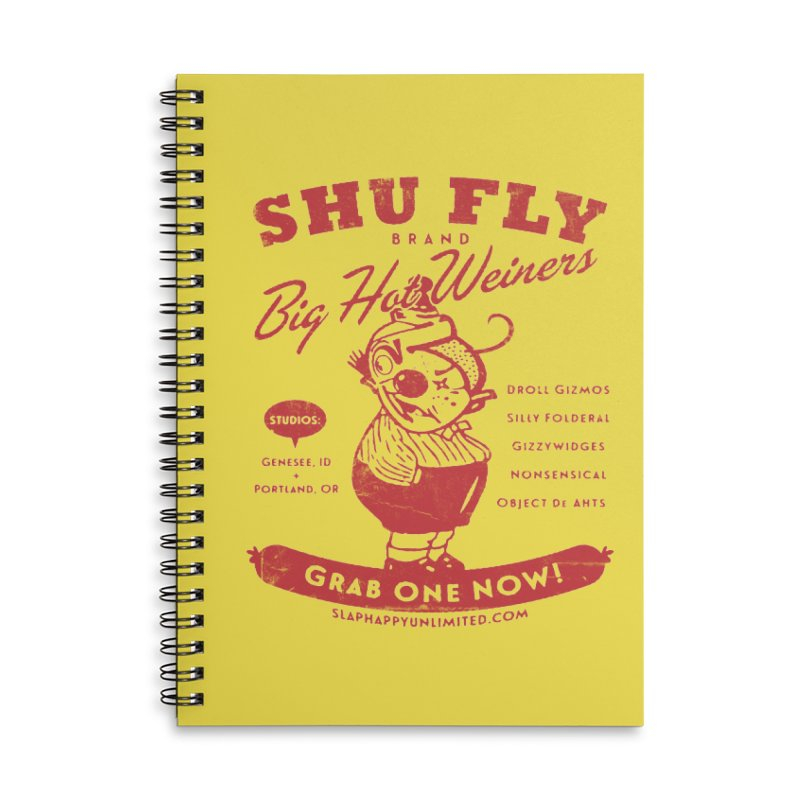SHUFLY Big Hots Accessories Lined Spiral Notebook by Slap Happy Ultd Emporium