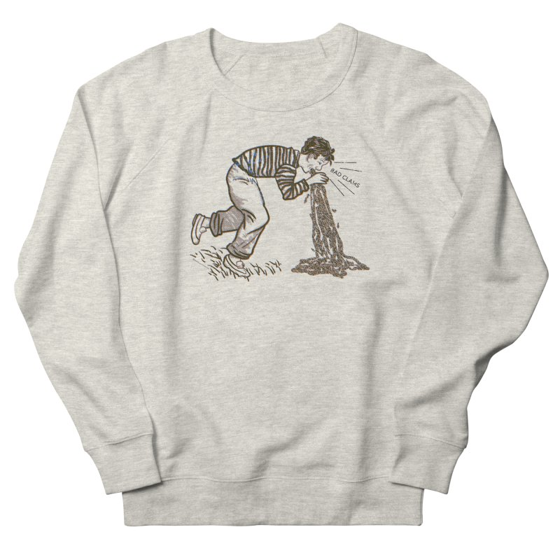 BAD CLAMS! Men's French Terry Sweatshirt by Slap Happy Ultd Emporium