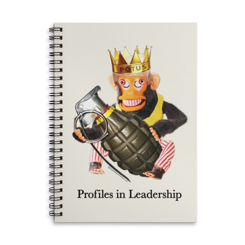 Profiles in Leadership Accessories Lined Spiral Notebook by Slap Happy Ultd Emporium