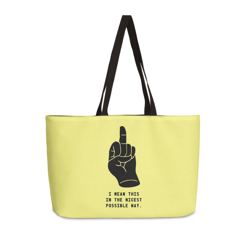 Nice Finger! Redux Accessories Weekender Bag Bag by Slap Happy Ultd Emporium