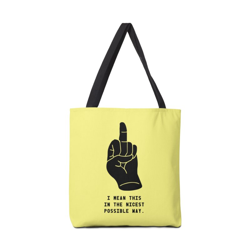 Nice Finger! Redux Accessories Tote Bag Bag by Slap Happy Ultd Emporium