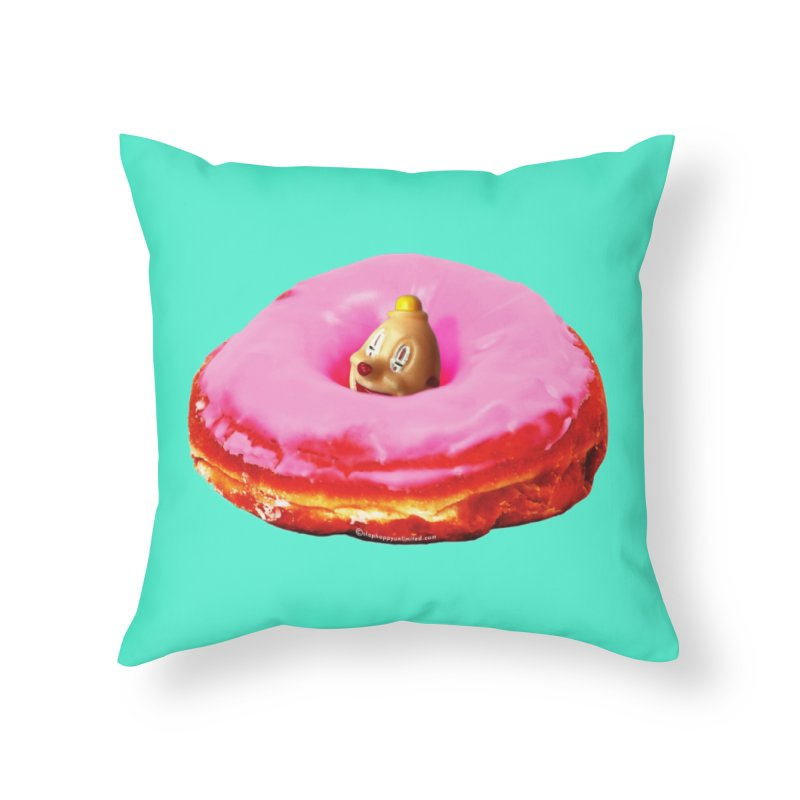 Eat Pink! Home Throw Pillow by shu SHOP