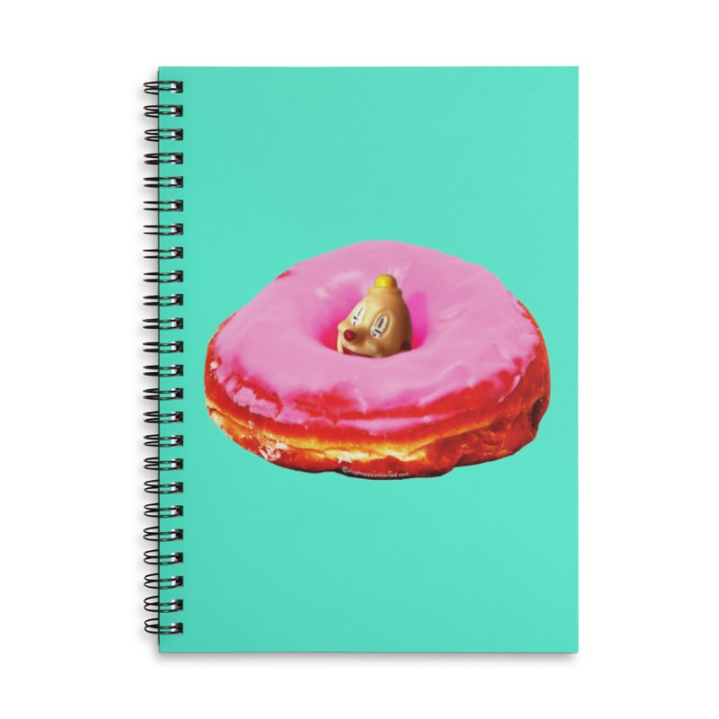 Eat Pink! Accessories Lined Spiral Notebook by Slap Happy Ultd Emporium