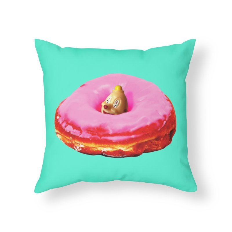Eat Pink! Home Throw Pillow by shuSHOP
