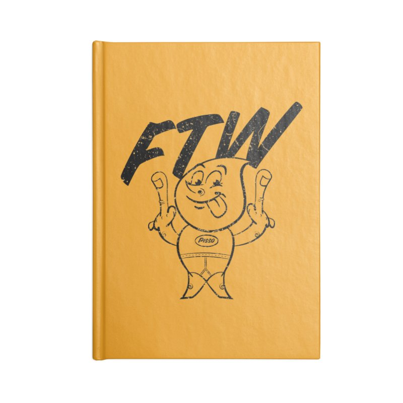 FTW Reducere Accessories Lined Journal Notebook by Slap Happy Ultd Emporium