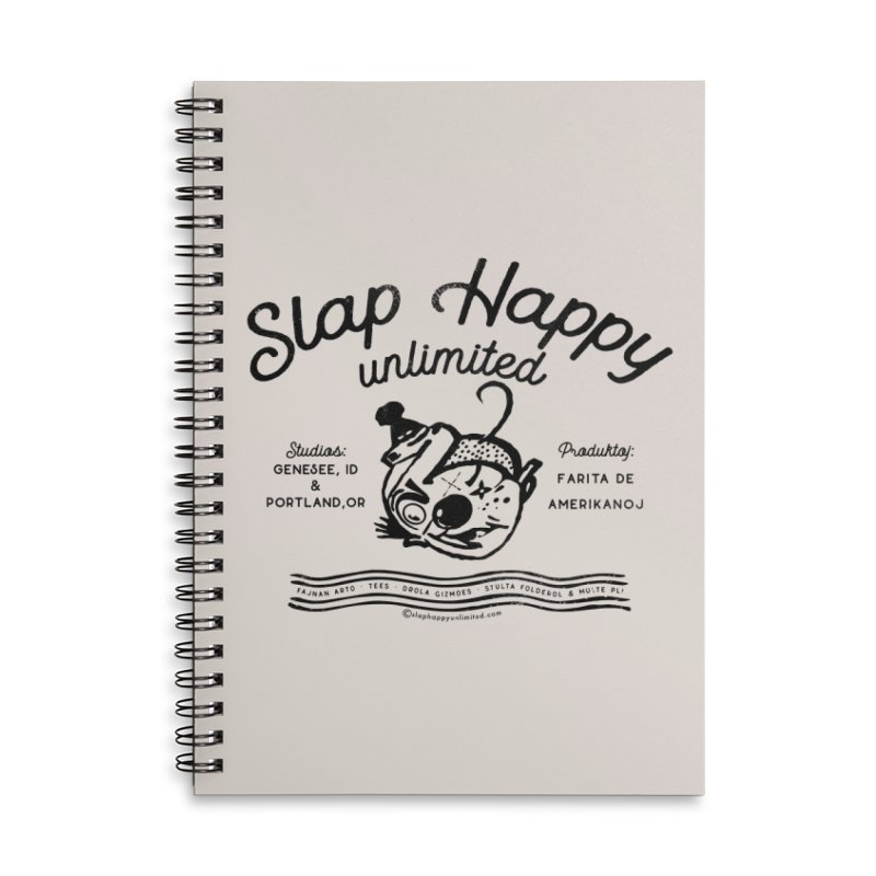 SHU Esparonto Accessories Lined Spiral Notebook by Slap Happy Ultd Emporium