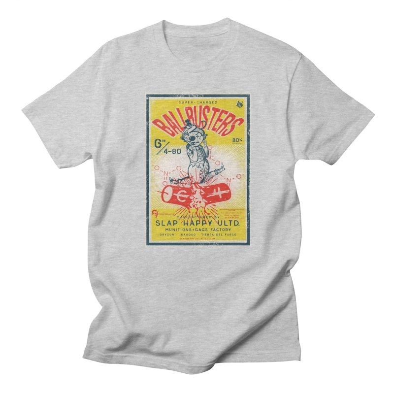 Ball Busters! in Men's Regular T-Shirt Heather Grey by Slap Happy Ultd Emporium