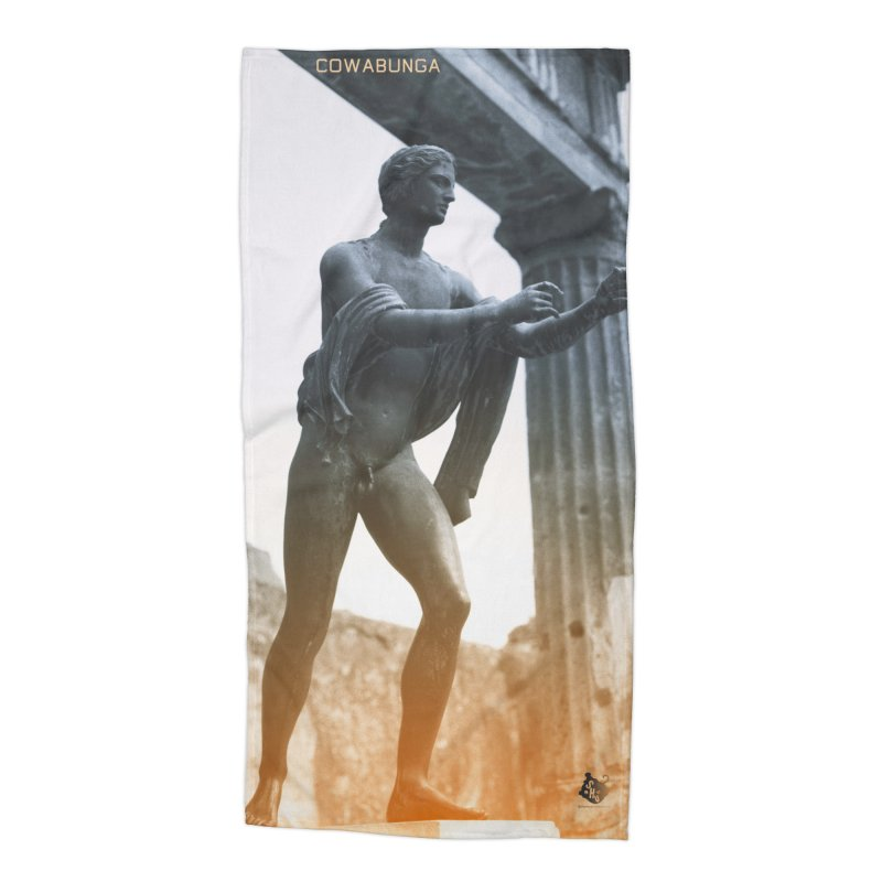 Pantsless Pompeii Accessories Beach Towel by Slap Happy Ultd Emporium