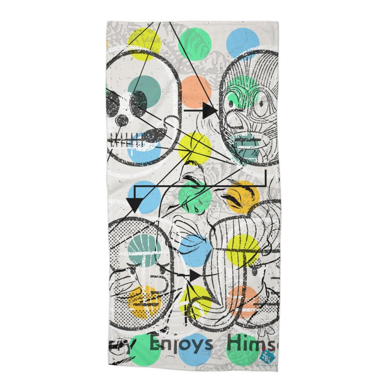 Enjoy Himself Accessories Beach Towel by Slap Happy Ultd Emporium