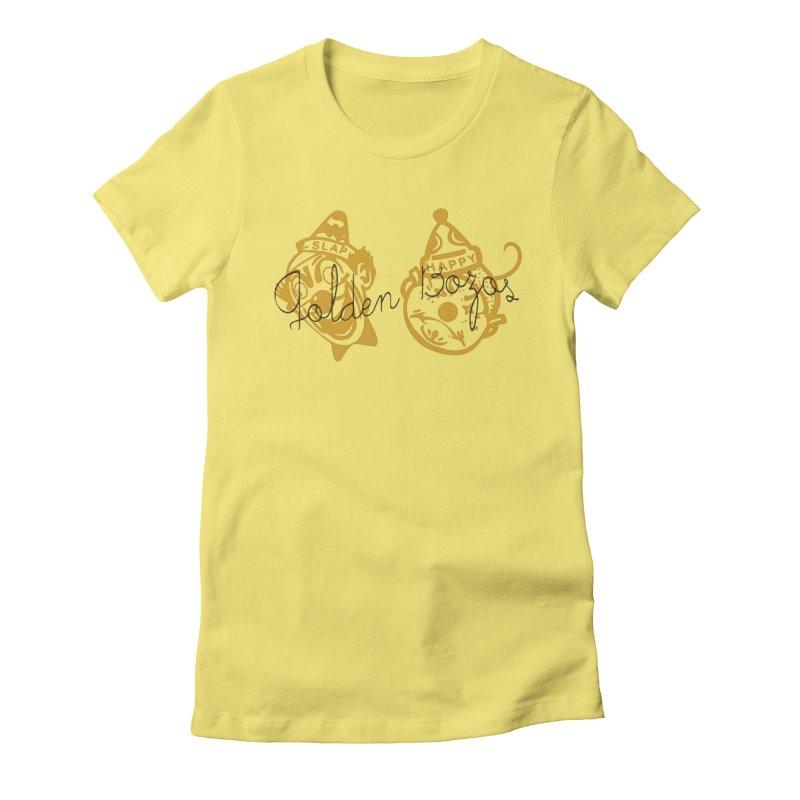 Golden Bozoz Women's Fitted T-Shirt by Slap Happy Ultd Emporium