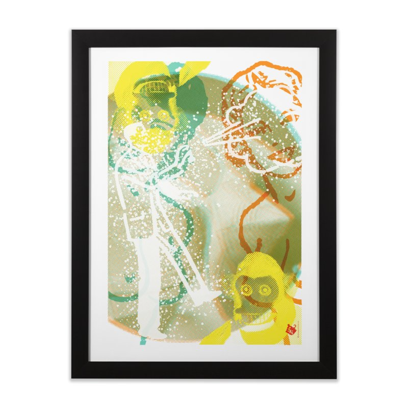 MonkeyNippleBoobieSpray Home Framed Fine Art Print by Slap Happy Ultd Emporium