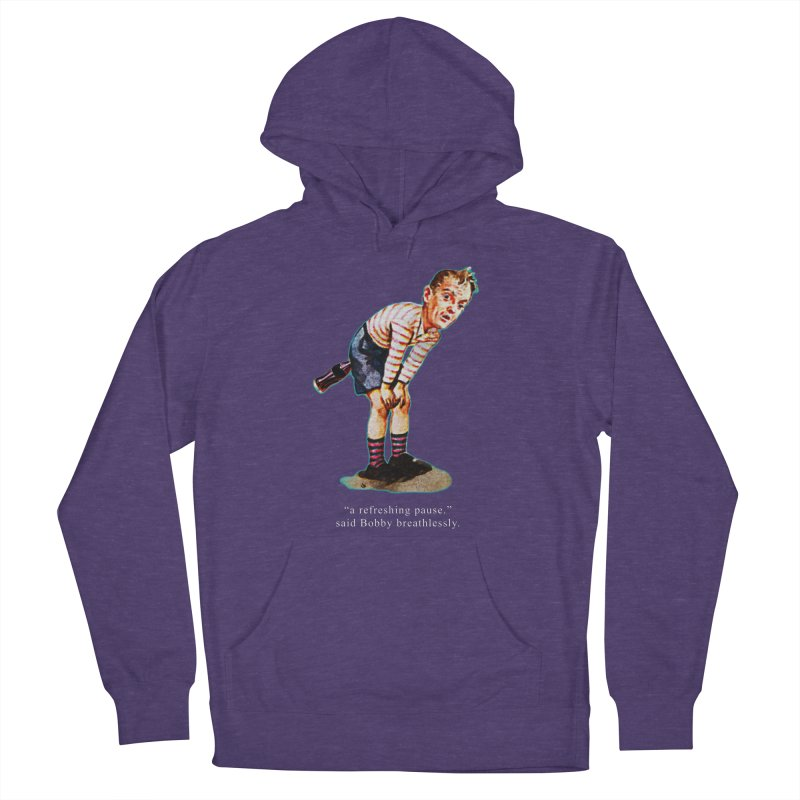 Refreshing Pause in Men's French Terry Pullover Hoody Heather Purple by Slap Happy Ultd Emporium