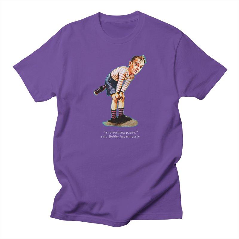 Refreshing Pause Men's Regular T-Shirt by Slap Happy Ultd Emporium
